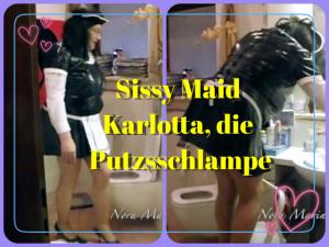 Sissy Maid tritt an zum Putzdienst