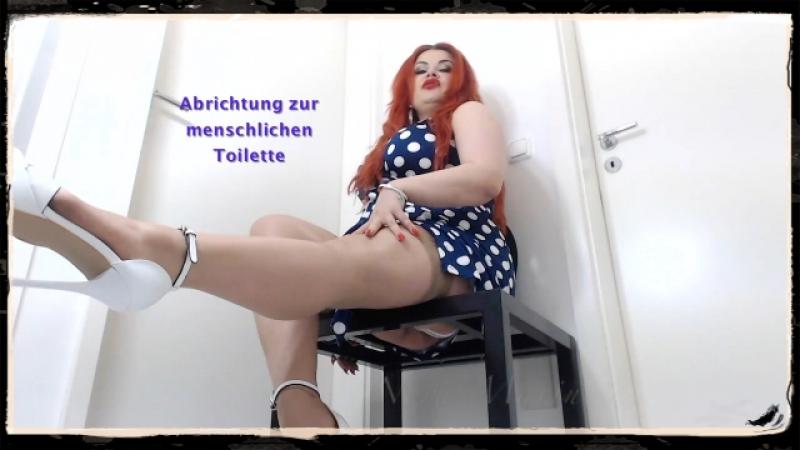 Menschliche Toilette, so richte ich Dich ab