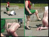 Outdoor-Sklave wird öffentlich gedemütigt!